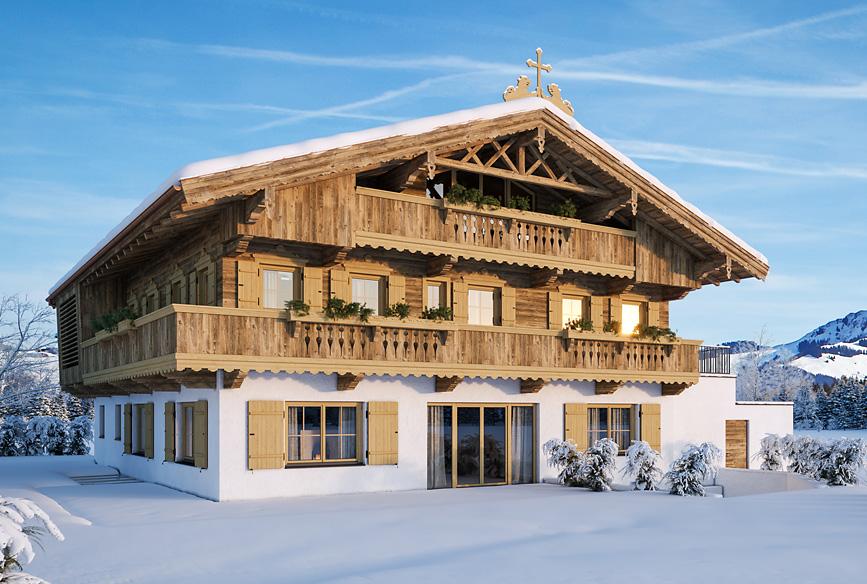 Giglmairhof in Kirchberg Tirol, Winteransicht